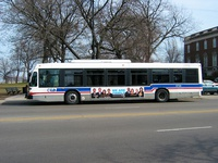 Bus #6738 at Clark and LaSalle on February 28, 2004.