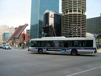 Bus #6430 at Wacker and State on July  9, 2004.