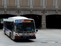 Bus #6834 at Washington and Clinton, working route #56 Milwaukee, on August  6, 2011.