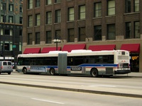 Bus #7534 at Michigan and South Water on May 19, 2004.