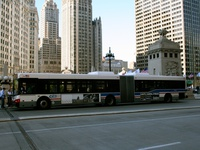 Bus #7719 at Wacker and Michigan on June  3, 2006.