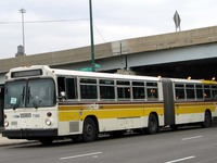 Bus #7360 at Desplaines and Congress, working route #156 LaSalle, on March  8, 2004.