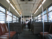 The interior of bus #7402, working route #147 Outer Drive Express, on March 11, 2004.