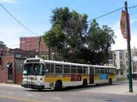 Bus #7362 at Belmont and Halsted on July 23, 2004.
