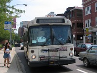 Bus #7332 at Belmont and Broadway, working route #156 LaSalle, on July 29, 2004.