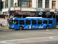 Bus #5863 at Michigan and Madison, working route #147 Outer Drive Express, on November 26, 2003.