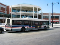 Bus #5805 at Howard Red Line Terminal on April 13, 2004.