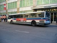 Bus #6037 at Washington and State on February 26, 2004.