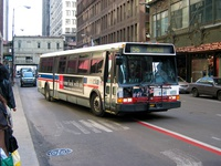 Bus #6146 at Madison and State, working route #56 Milwaukee, on February 28, 2004.