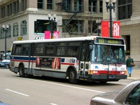 Bus #6005 at Washington and Michigan, working route #151 Sheridan, on April 28, 2004.