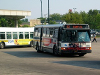 Bus #6281 at Midway Orange Line, working route #63 63rd, on September  7, 2005.