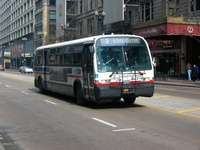 Bus #4443 at State and Adams, working route #3 King Drive, on February 22, 2004.