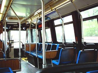 The interior of bus #5751, working route #53A South Pulaski, on May 20, 2004.