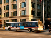 Bus #5376 at Wacker and Wabash on April 13, 2006.