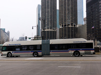 Bus #4304 at Wacker and Wabash, working route #6 Jackson Park Express, on December 19, 2012.