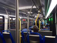 The interior of bus #7900, working route #43 43rd, on June 24, 2014.