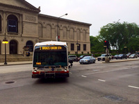 Bus #7901 at Michigan and Adams, working route #1 Bronzeville/Union Station, on June 25, 2014.