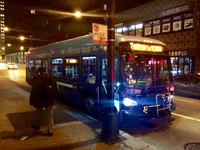 Bus #701 at Jackson and State, working route #7 Harrison, on October 29, 2014.