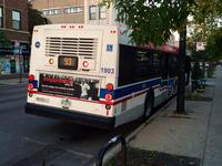Bus #1903 at Kimball Brown Line Station, working route #93 California/Dodge, on September 18, 2014.
