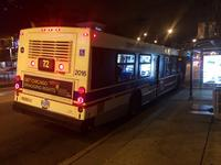 Bus #2016 at North and Halsted (North/Clybourn Red Line Station), working route #72 North, on September 22, 2014.
