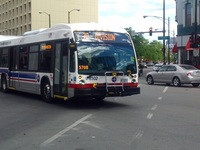 Bus #8102 at Division and Ashland, working route #70 Division, on July 31, 2015.