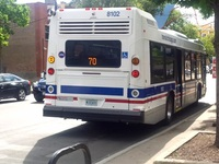 Bus #8102 at Division and Western, working route #70 Division, on July 31, 2015.