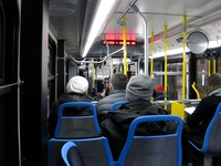 Bus #4015 at Lake Shore Drive, working route #147 Outer Drive Express, on December 13, 2008.