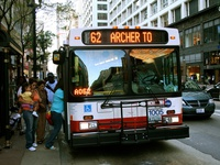 Bus #1005 at State and Monroe, working route #62 Archer, on August 11, 2006.