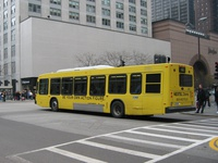 Bus #6637 at Chicago and Michigan, working route #66 Chicago, on November 22, 2003.
